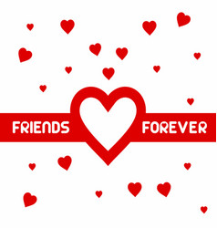 happy freindship day design with typography vector image