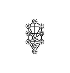 Kabbalah tree life logo icon symbol design vector