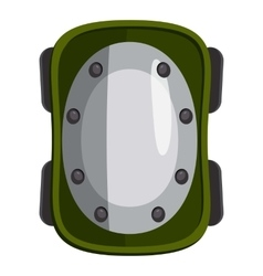 Knee pad icon cartoon style vector