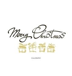 Merry Christmas text design logo vector