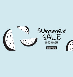 modern summer sale banner with dotted vector image