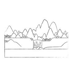 Mountains landscape image vector