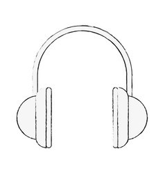 music headphones isolated vector image