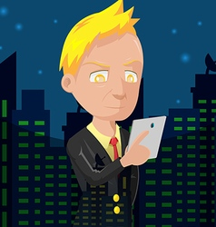Old Business Man City Night vector image
