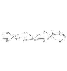 outline arrows set of next signs vector image