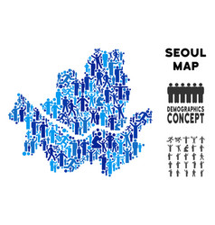 People seoul city map vector