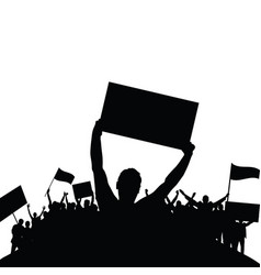Protest people silhouette vector