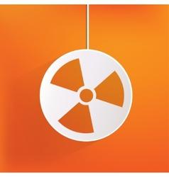 Radiation danger icon vector image