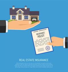 Real estate insurance concept vector