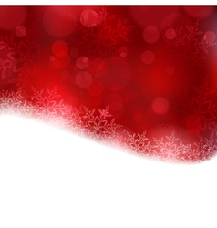 Red Christmas background with blurry lights vector image