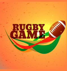 Rugby game sports background vector