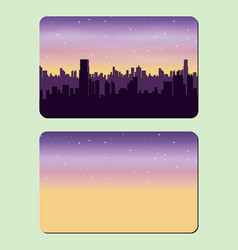 sample design of a credit card night city the vector image