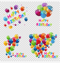 Set bunches and groups of color glossy helium vector