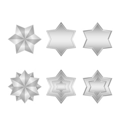 Silver Stars Icons vector