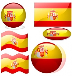 spain flags vector image