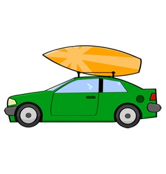 Surfer car vector