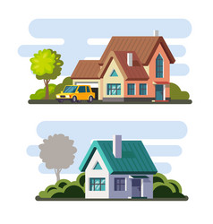Tamplate of real estate property and ownership vector