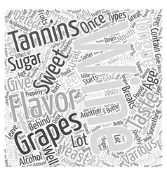 The Flavors Of Wine Word Cloud Concept vector