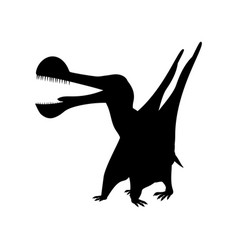 Tropeognathus silhouette dinosaur jurassic vector