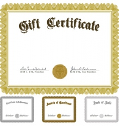 Vector ornate award certificate set vector