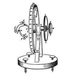 vertical circle goniometer vintage vector image