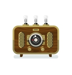 Vintage Radios in Flat Style vector image