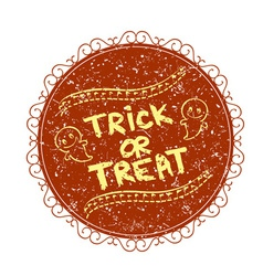Vintage sign with trick or treat vector