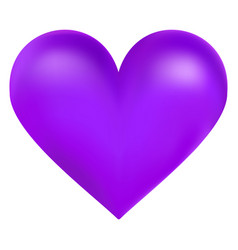 violet color big heart vector image