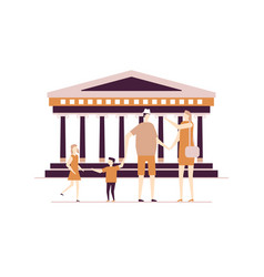 visit greece - colorful flat design style vector image