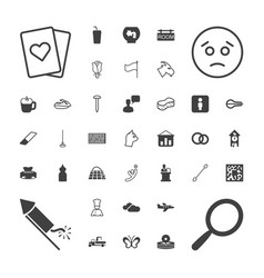 White icons vector