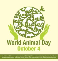 world animal day banner vector image