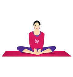 Yoga - butterfly pose vector image