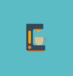 flat icon coffeemaker element vector image vector image