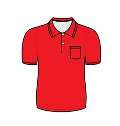 Red polo shirt outline vector image vector image
