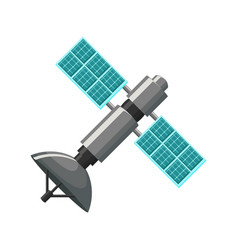 satellite icon isolated vector image vector image
