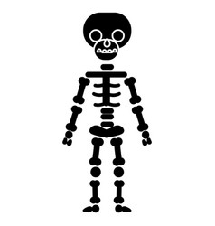 skeletone icon black sign on vector image vector image
