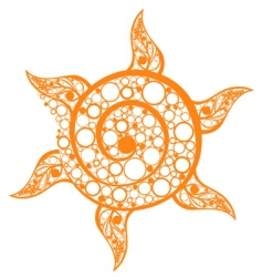 sun rounds vector image
