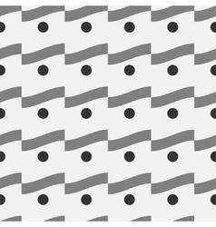 Wave and polka dot seamless pattern 3403 vector image