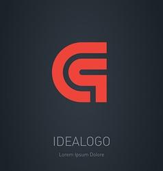 C and Q initial logo C and Q initial monogram vector image vector image