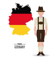 germany design culture icon flat vector image