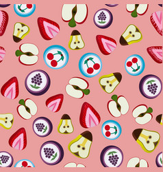 seamless background with bright fruit candy vector image vector image