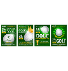 golf poster set vector image