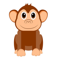 isolated cute monkey vector image vector image
