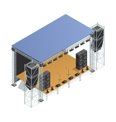 Stage Isometric Poster vector image vector image