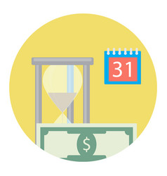 time is money icon vector image vector image