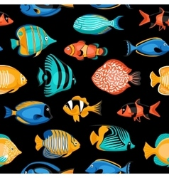 Tropical Fish Seamless Pattern vector image vector image