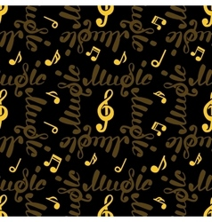 Abstract music seamless pattern vector image vector image
