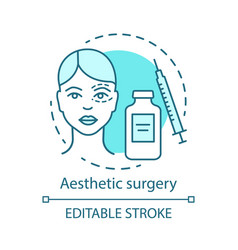 Aesthetic surgery concept icon vector