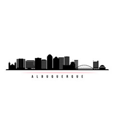 albuquerque city skyline horizontal banner vector image
