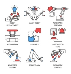 Assembly Icon Set vector image